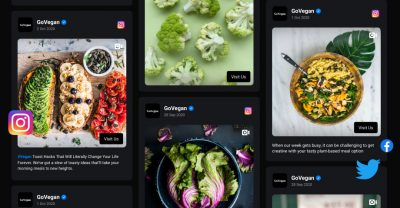 templates for social media feeds