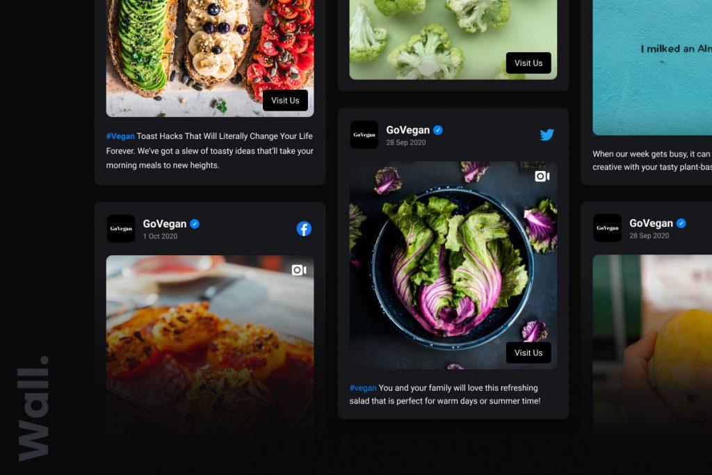wall social media widget