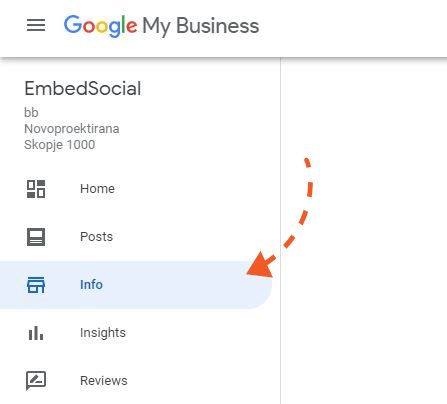 google my business info section