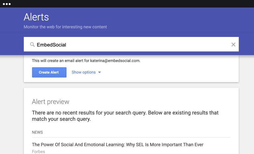 monitoring google alerts