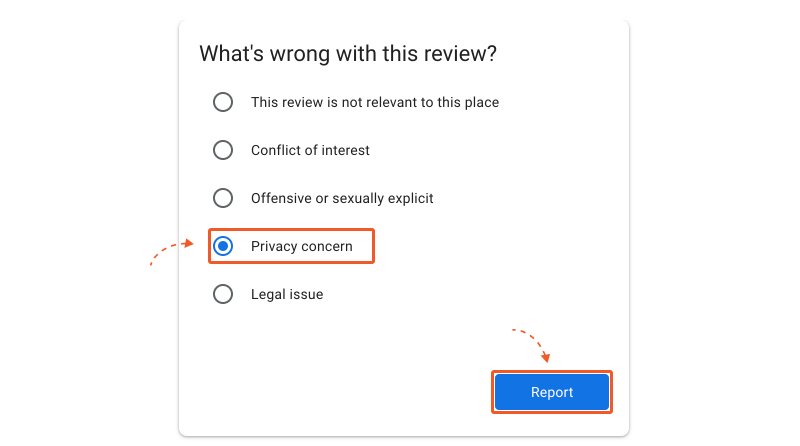 resons to report google reviews