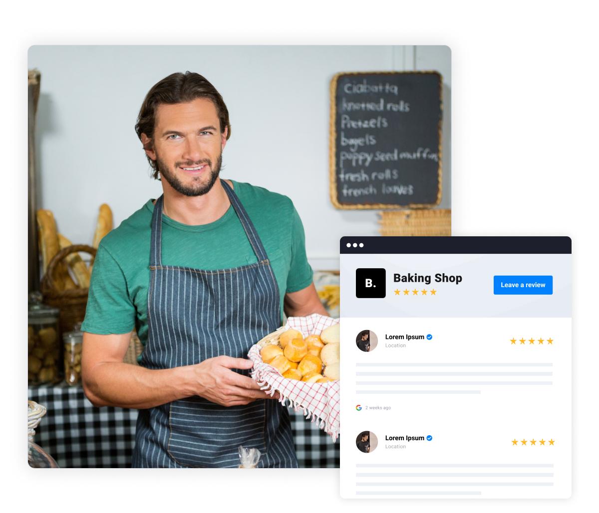dedicated reviews webpage
