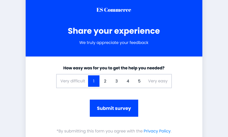 template for customer effort score
