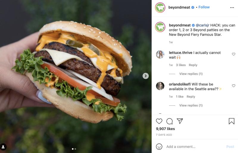 food industry instagram marketing tips