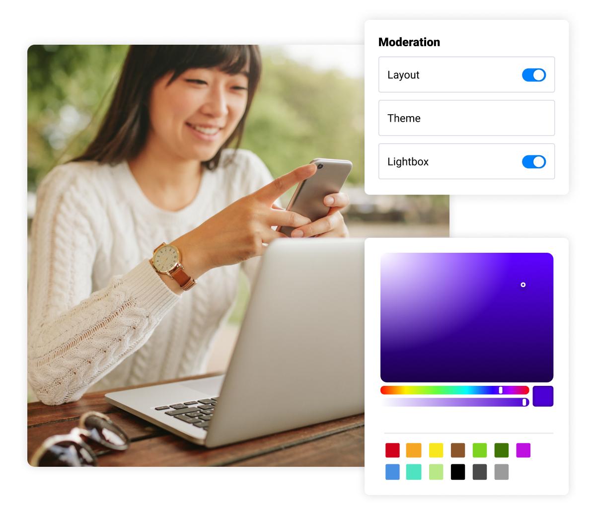 design custom reviews widgets