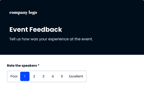 template for event feedback form