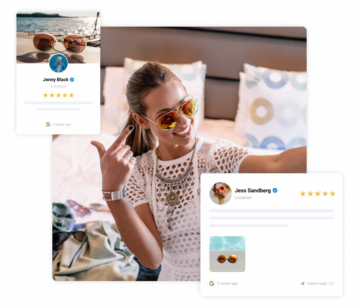 collect and display photo reviews