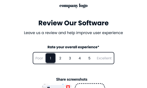 template for software evaluation