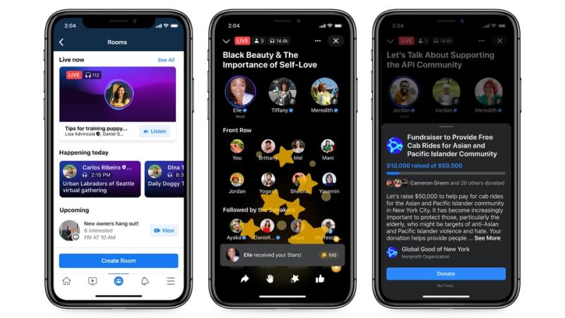 audio rooms on facebook messenger