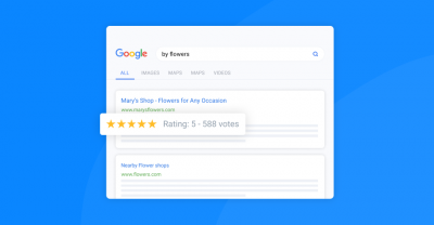 google rating stars snippet