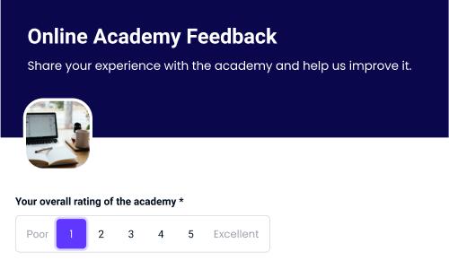online academy feedback