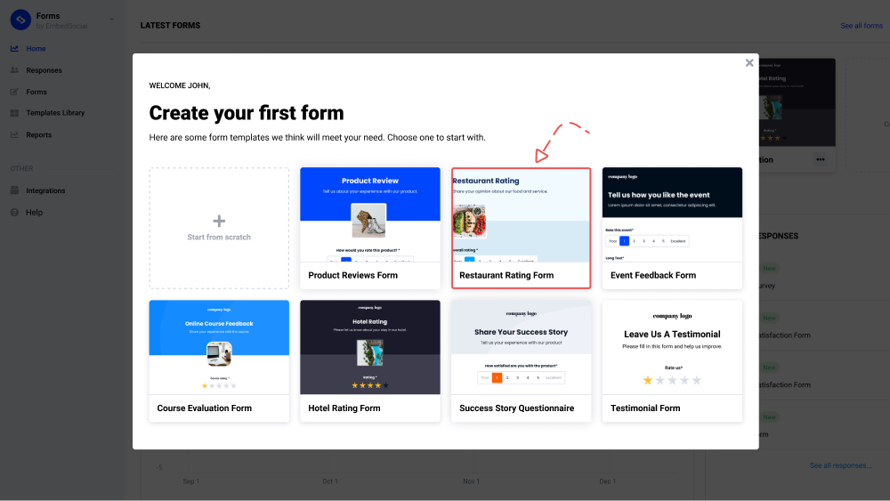 form templates gallery