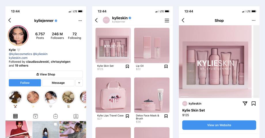 instagram shop kylie cosmetics
